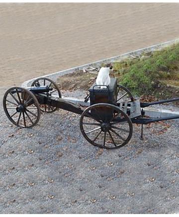 Förställarvagn passande den Amerikanska kanonen