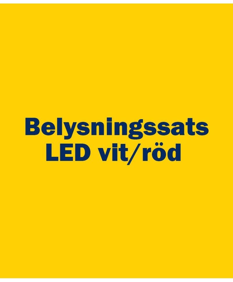 Belysningssats LED vit/röd