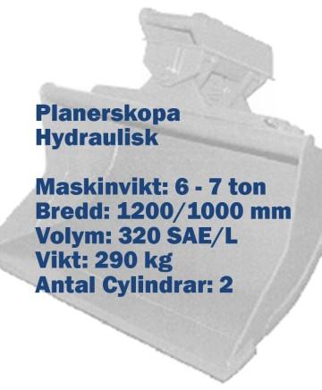 Planerskopa - Hydraulisk