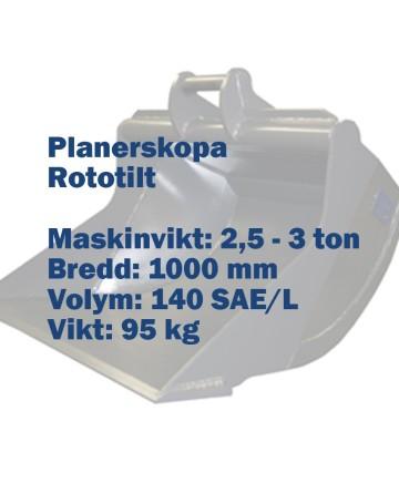 Planerskopa - Rototilt