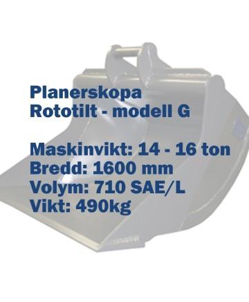 Planerskopa - Rototilt - modell G