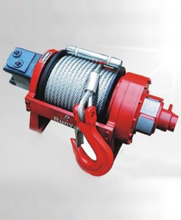 Bärgningsvinsch hydraulisk 9000 kp, 2 hastigheter luftstyrd