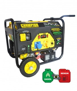 CHAMPION ELVERK, 2800 WATT, DUAL FUEL