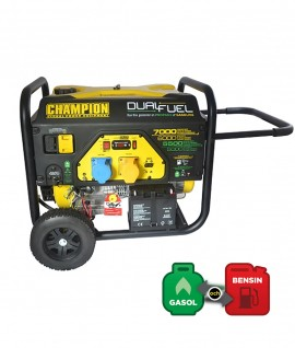 CHAMPION ELVERK, 7000 WATT, DUAL FUEL