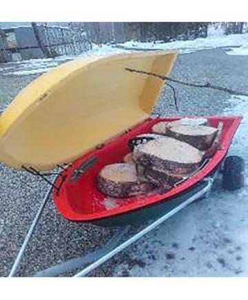 """Skogspulka """"X Sled Expeditions"""" med lock och drag för ATV"""