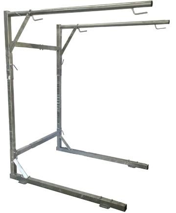 Galvaniserat stativ för 1,5 m³ vedsäckar