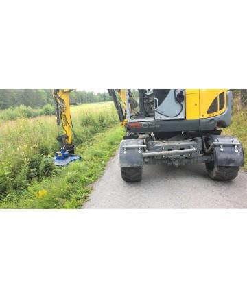 Buskröjare FH100 Twincut - för grävmaskin