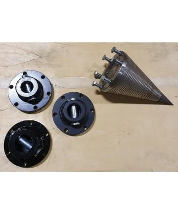 Klyvkon för rotatorer eller andra hydraulmotorer