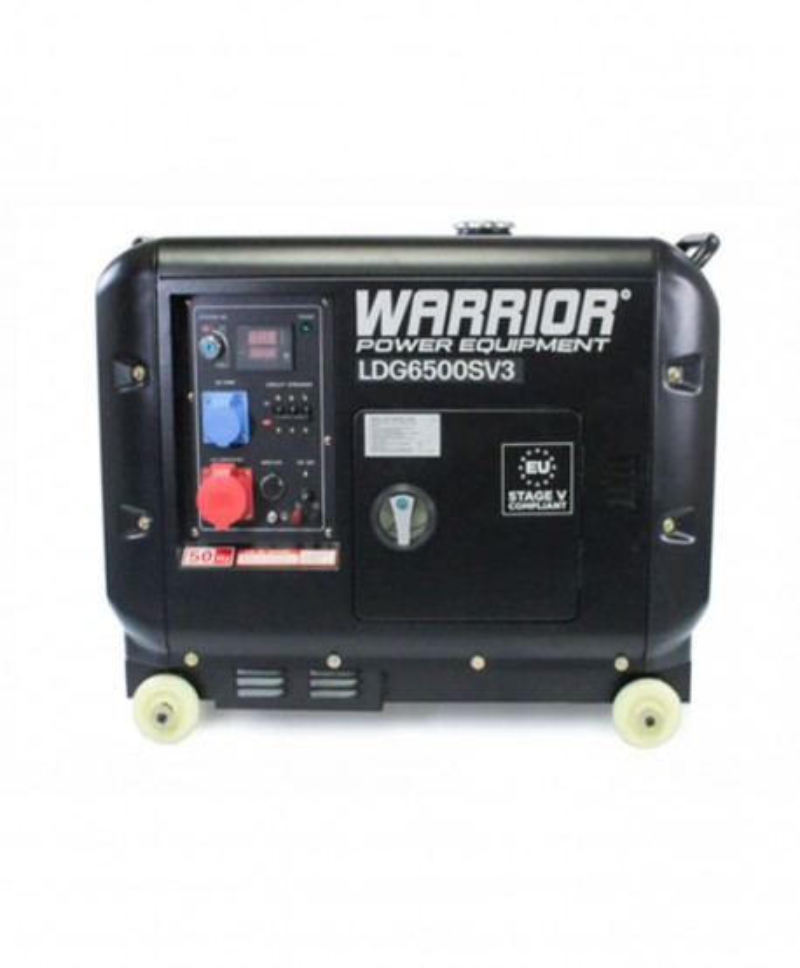 Warrior Dieselelverk 6.25 kVa, 3-fas, ATS