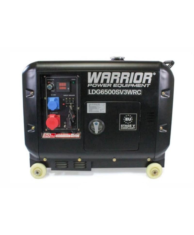 Warrior Dieselelverk 6.25 kVa, 3-fas. Trådlös fjärrkontroll