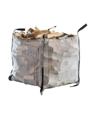 Vedsäck Big Bag med fast botten 1 m3